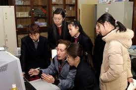 Vic Swift training at the National Library of China, January 2003